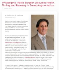Philadelphia Plastic Surgeon Discusses Breast Augmentation FAQs