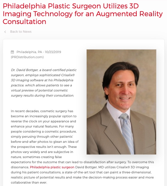 Philadelphia Plastic Surgeon Employs 3D Imaging for Consultations